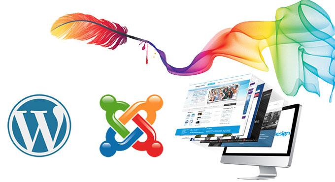 Diseño de páginas Wen en WordPress y Joomla